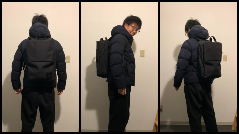 ノースフェイス・シャトルデイパックをレビュー【背負ったイメージ写真を公開】冬